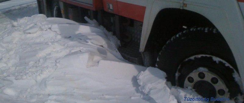 Ehemaliges RLF-A im Einsatz beim Schneechaos in Ungarn