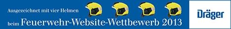 4 Helme beim Dräger-Feuerwehr-Website Wettbewerb