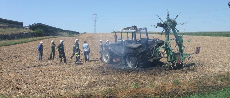 Traktorbrand in Egelsee