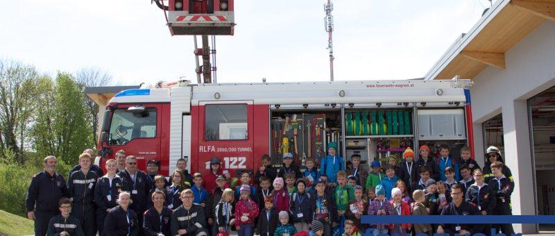 Osterferienaktion der Stadt St.Pölten bei der Feuerwehr Wagram