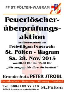 FeuerlöscherÜberprÜfung am 28. November