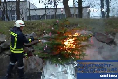 Christbaumbrand verhindern – Feuerwehr Wagram im P3tv