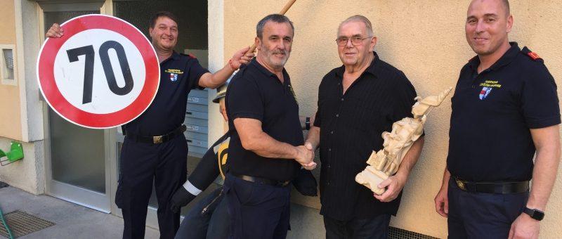 Feuerwehrmann mit Leib und Seele: Franz Emsenhuber wird 70